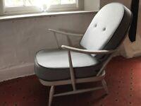 Vintage Ercol Fleur de Lys armchair