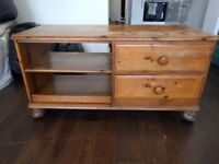 Small set of wooden drawers with pull out tray