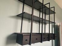 Kitchen hanging wall shelves