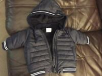Next baby coat up to 3 months new
