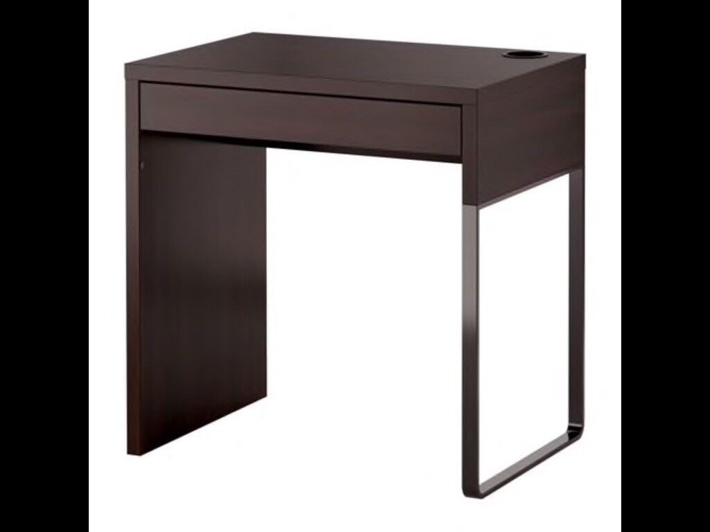 Ikea Micke Black Desk Includes Drawer Organiser Free Of Charge