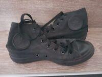 All Black Converse, Size 5