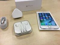 Silver Apple iPhone 6 16GB Factory Unlocked Mobile Phone Like New - Premium Grade + Warranty