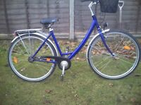winora hybred step though ladies town bike