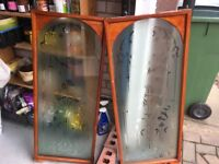 saloon glass swing doors with fittings