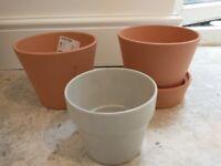 Four IKEA indoor house plant pots