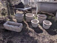 Concrete flower plant pots