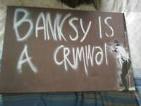 Banksy canvas art wall picture print