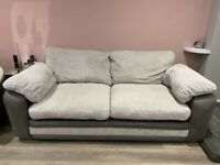 3 seater sofa and 2 seater cuddle swivel chair