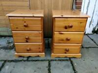 £55 Solid Pine bedside cabinet tables farmhouse shabby chic project