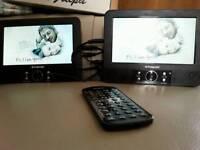Polaroid Twin Screen Car DVD Player