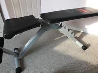 Weight dumbbell bench pro power folds flat