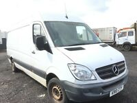 Mercedes sprinter 313cdi 2010 year lwb high top doors spare parts available