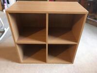 Oak effect cube storage