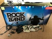 Xbox 360 rock band drum set &other bits
