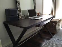 Brown wood desk Glebe Inner Sydney Preview