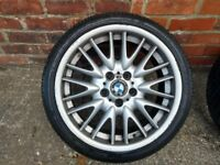 """BMW Alloy Wheels 18"""" MV1 Alloys with Tyres, Wider Rear, from E46 330 Sport"""