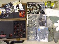 HUGE warhammer collection - large carry case, LOADS of troops, many custom terrains