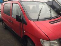 Mercedes vito 1996-2004 2.2 cdi complete van breaking minibus