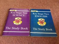 KS2 Study Books, English, Science