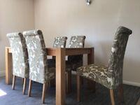 Debenhams 'Ontario' oak dining table and OAK furnitureland chairs