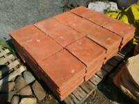 Red Roman terracotta effect garden slabs / stepping stones