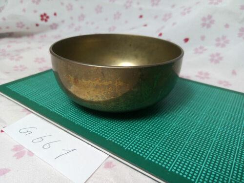 """2.913"""" Japanese Buddhist Bell Zen Gong Rin G661 Good Sound  VTG"""