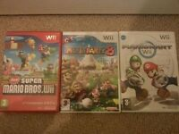 Wii: MARIO GAMES: New Super Mario Bros / Mario Party 8 / Mario Kart Wii