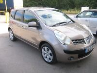 NISSAN NOTE 1.5 DCI , DIESEL 5 DOOR, LOW MILEAGE FOR THE YEAR, SERVICE HISTORY, CHEAP TO RUN
