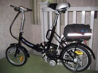 BRAND NEW Black Dillenger Cheetah Electric Folding Bike inc Accessories RRP £450+ REDUCED TO £300