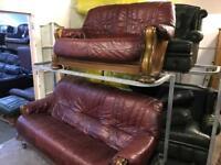 Leather 3 and 2 sofa set