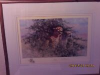 DAVID SHEPHERD CHEETAH HAND SIGNED LIMITED EDITION WITH 2 OTHER ITEMS