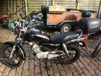 2012 YAMAHA YBR CUSTOM 125cc, tested until 2018 and in good condition