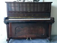 ***CAN DELIVER*** 'WADE' OVERSTRUNG MAHOGANY UPRIGHT PIANO ***CAN DELIVER***