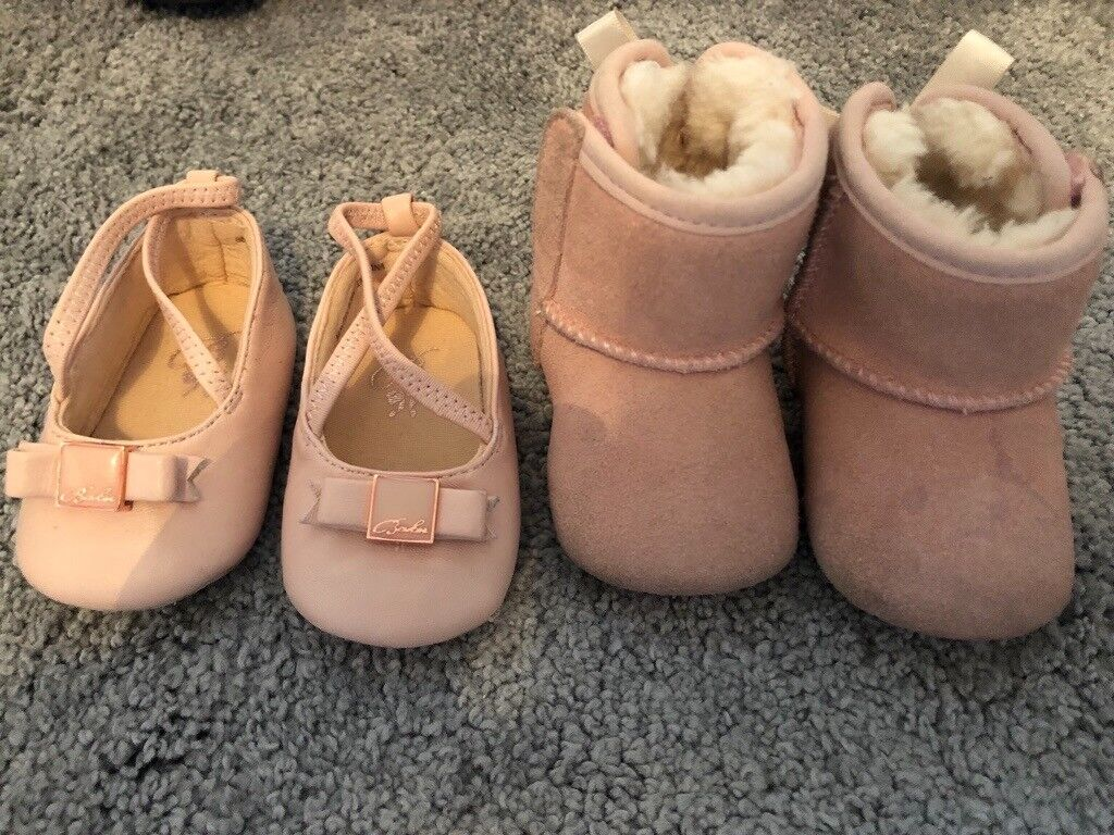 b84be21ab6e3 Baby girl uggs and ted baker shoes