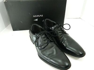 Alfani Men's Black Andrew Plain Toe Derbys Shoes NIB Size 10 M B1