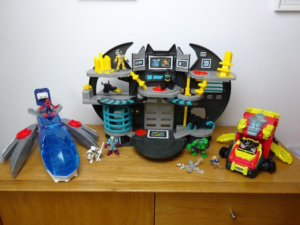 Imaginext Batcave Amp Marvel Super Hero Squad Truck