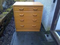 Used, Vintage G Plan E Gomme 4 drawer chest of drawers retro 1950s mid century modern for sale  Stirling