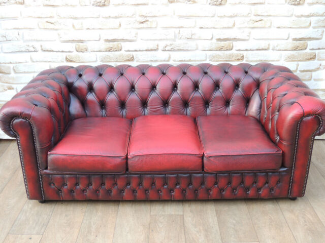 Chesterfield Quality Leather Club Sofa Uk Delivery In Lewisham London Gumtree