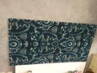 Rug.New. Blue/navy pattern Hessian backed 1340 x 690 mm. Collection only NG6
