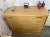 Chest of Drawers and Matching Bedside Cabinets