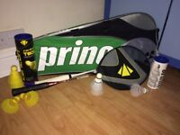Badminton Rackets, Shuttlecocks & Large Racket Bag