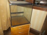 "VIVARIUM WITH STAND [ A THREE DRAW FILING CABINET ] * 18"" x 18"" x 18"" CLACTON ON SEA - CO15 6AJ"