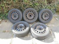 VW Golf MK6 whell rims with tyres