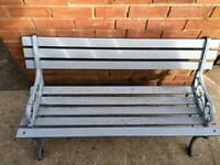 Garden Bench with Cast Iron Ends.
