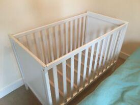 Cot bed Ikea Sundvik + mattress. Excellent condition
