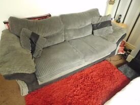 JUMBO CORD 3 SEATER SOFA AND ARMCHAIR COVERS CAN BE REMOVED ONLY £60