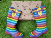 Rainbow Wellies 7 by Evercreatures