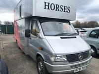 Mercedes Sprinter Horse Box 3.5t Sleeping Section Good Reliable Van