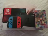Nintendo Switch Neon Blue/Red (BRAND NEW) Mario Kart 8 Deluxe (SEALED)